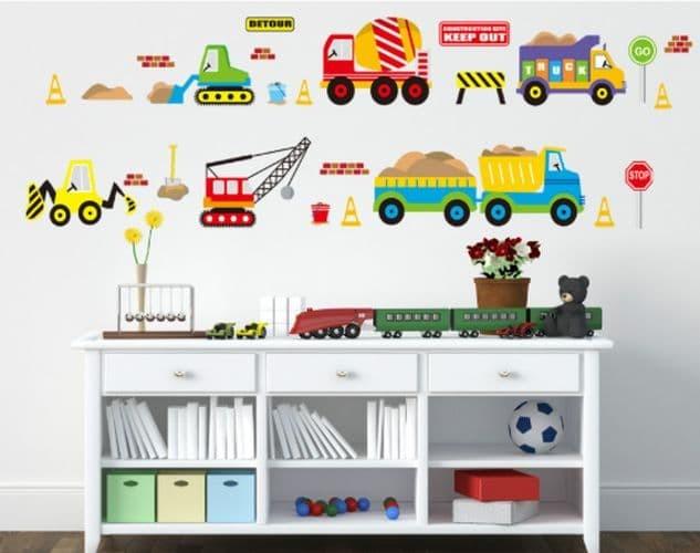 jual alat berat jm8269 - stiker dinding / wall sticker (50x70