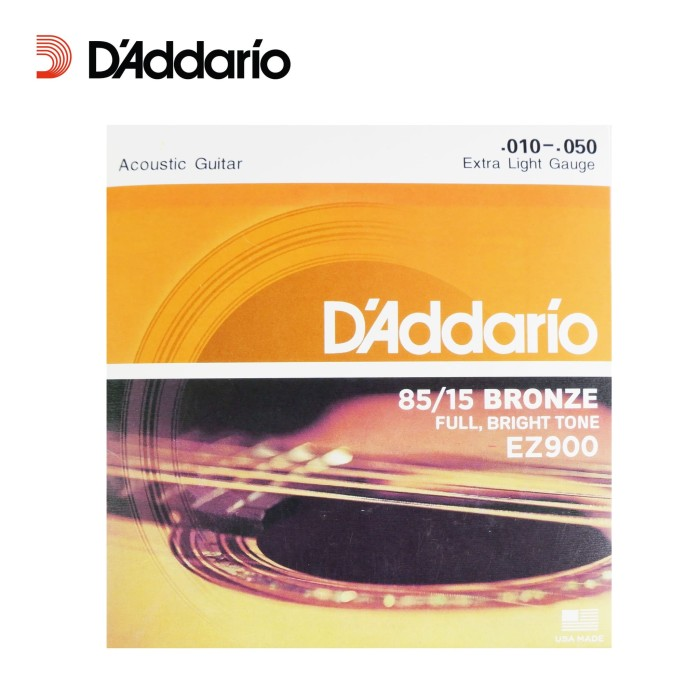 Foto Produk Senar Gitar Akustik D'Addario (10) EZ900 Extra Light Gauge Daddario dari BRANDOS