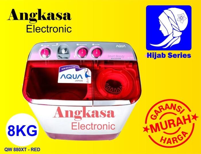 Mesin Cuci Aqua 8 Kg - 2 Tabung QW 880 XT Hijab Series