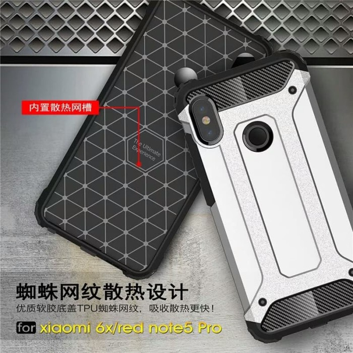 new style 7660c dc2d5 Jual Spigen Iron XIAOMI REDMI NOTE 5 PRO Soft Case Slim Rugged Armor - Kota  Bekasi - GALLERY ASESORIES | Tokopedia