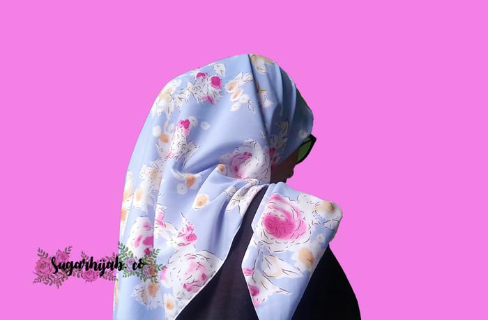 Sugar Hijab Jilbab Segi Empat motif print flowers