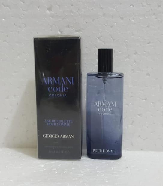 harga Mini spray giorgio armani code colonia men edt 15ml Tokopedia.com