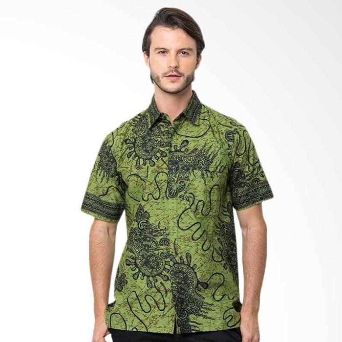 Batik Trusmi Hem Sgm Nf Kemeja Pria - Hijau