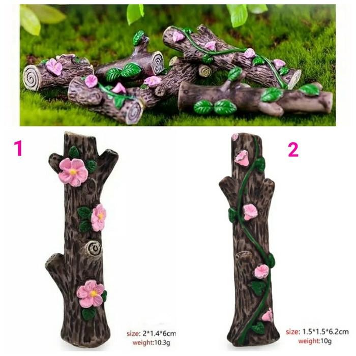 harga Miniature tree stump flower hiasan terrarium bahan maket diorama Tokopedia.com