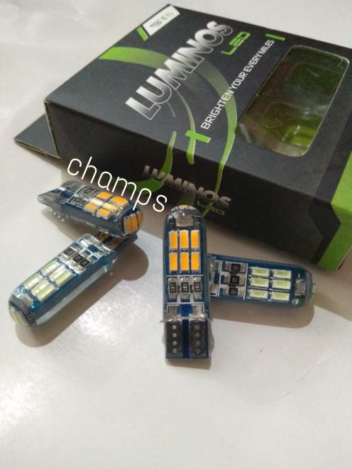 Foto Produk T10 Crystal 15 Mata LED 5730 Nine Luminos Lampu Senja Kota Sen Riting dari Champs