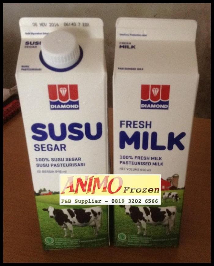 Jual Promo Susu Diamond Fresh Milk Rasa Plain 1l Isi 6 Pcs