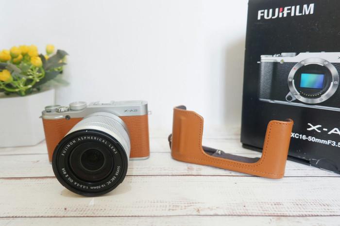 Kamera mirrorless fujifilm xa2 brown bukan dslr nikon canon sony 2