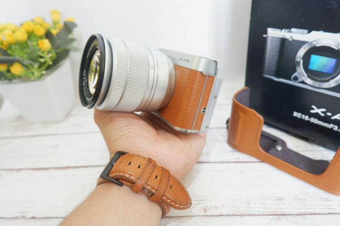 Kamera mirrorless fujifilm xa2 brown bukan dslr nikon canon sony 3
