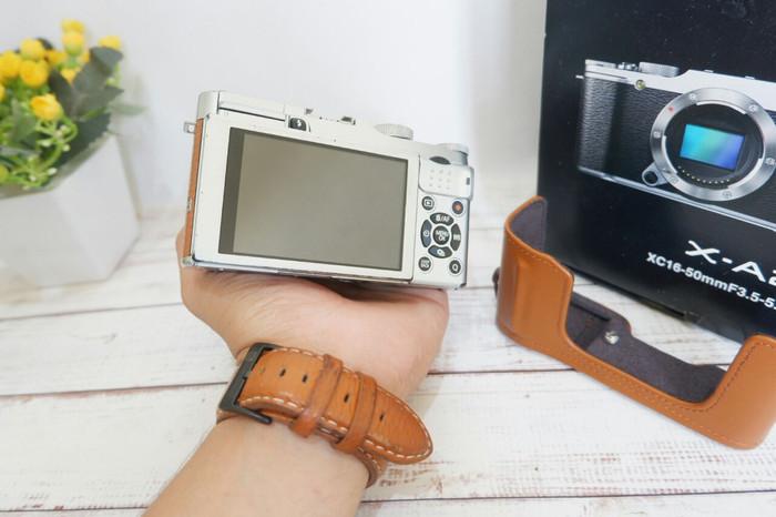 Kamera mirrorless fujifilm xa2 brown bukan dslr nikon canon sony 1
