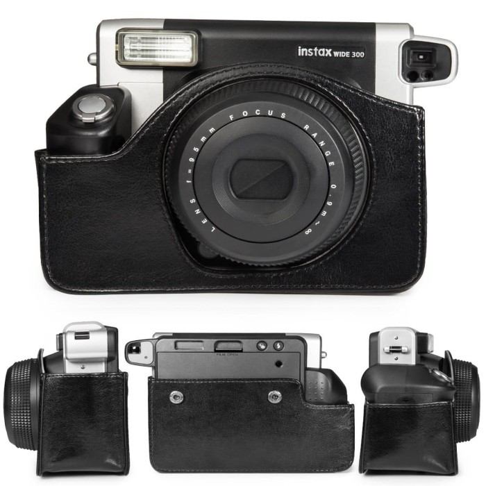 harga Leather case bag instax wide 300 black - instax photo station Tokopedia.com