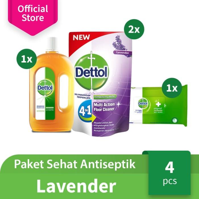 Dettol Paket Sehat Antiseptik Keluarga Varian Lavender [FLASH SALE]