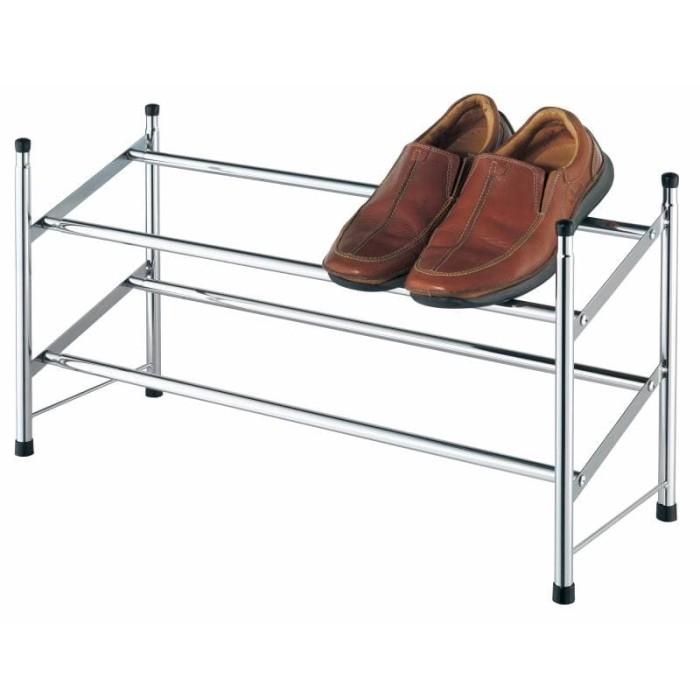 harga Jysk shoe rack extendable howard 119x22x35cm metal/ rak sepatu Tokopedia.com