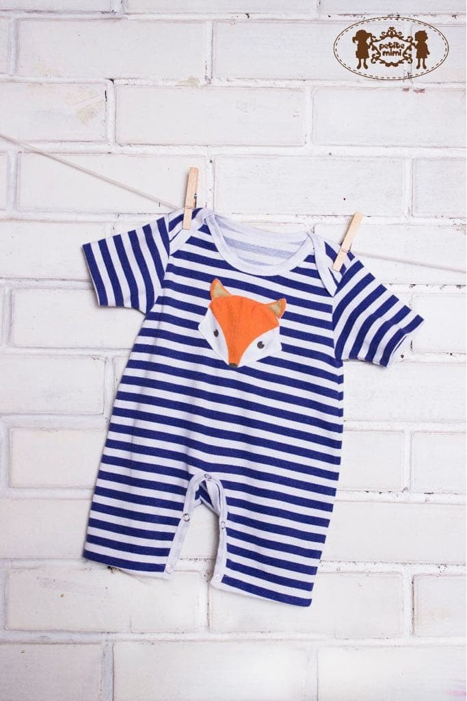 Petite mimi - 3d romper animal (with hat) fox blue. Bayi dan Anak : Pakaian ...
