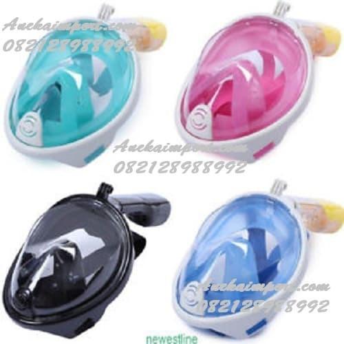harga Masker selam full face snorkel diving underwater snorkeling snorkling Tokopedia.com