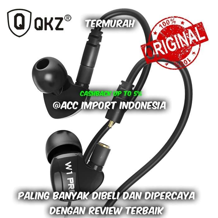 Knowledge Zenith Sport Detachable Cables with Mic - QKZ-W1 PRO - Black - Hitam