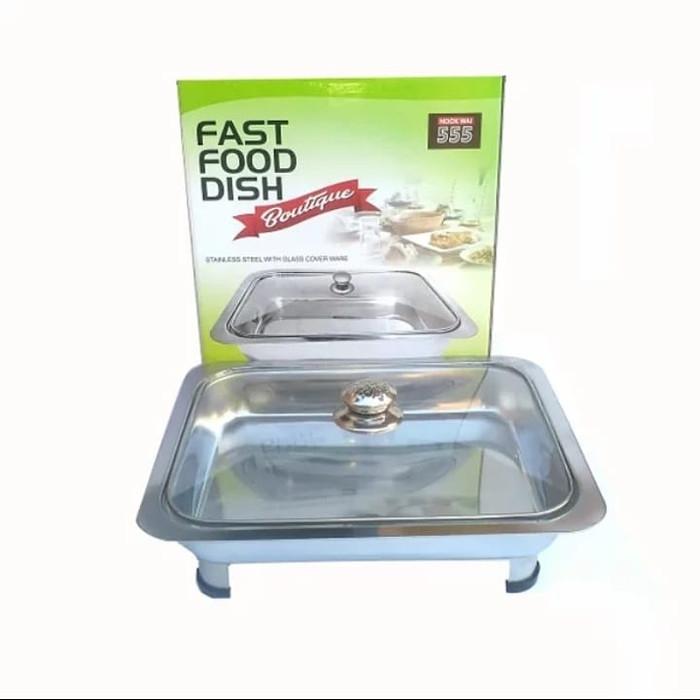 Fast Food dish tutup kaca / wadah prasmanan / Nampan Prasmaman