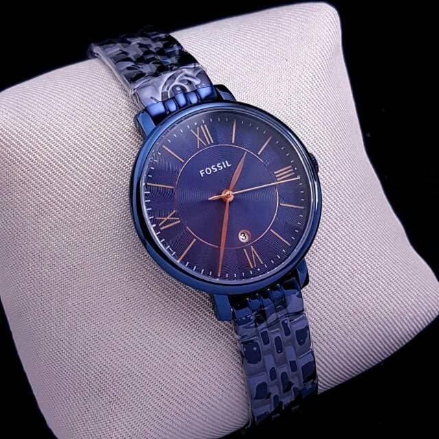 harga Jam tangan wanita merk fossil jacqueline type es 4094 es4094 blue Tokopedia.com