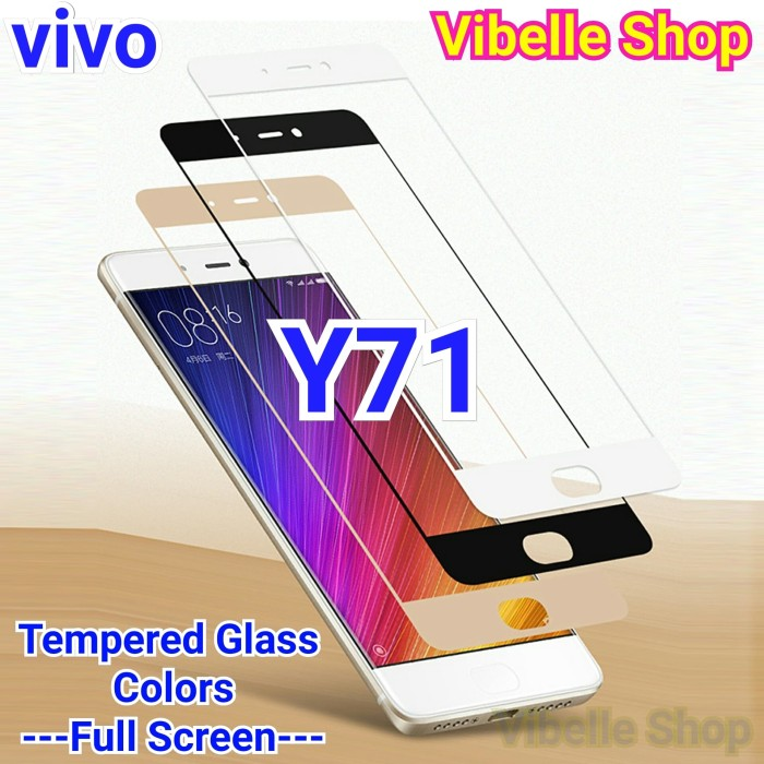 Tempered Glass Warna VIVO Y71 FULL SCREEN COVER Y 71