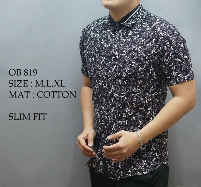harga Kemeja Batik Slim Fit / Kemeja Casual / Batik Pria Slim Fit Ob819 Blanja.com