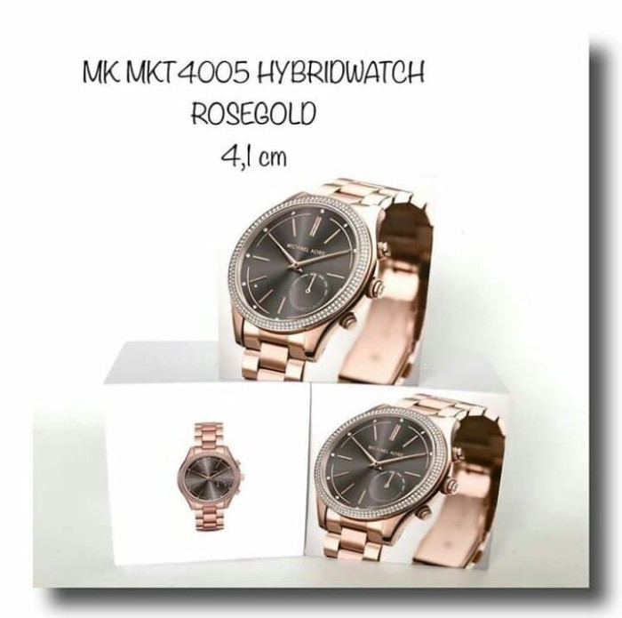 ca9b742533b6 Jual ORI LEATHER JAM MICHAEL KORS MKT4005 HYBRIDWATCH ROSE GOLD ...