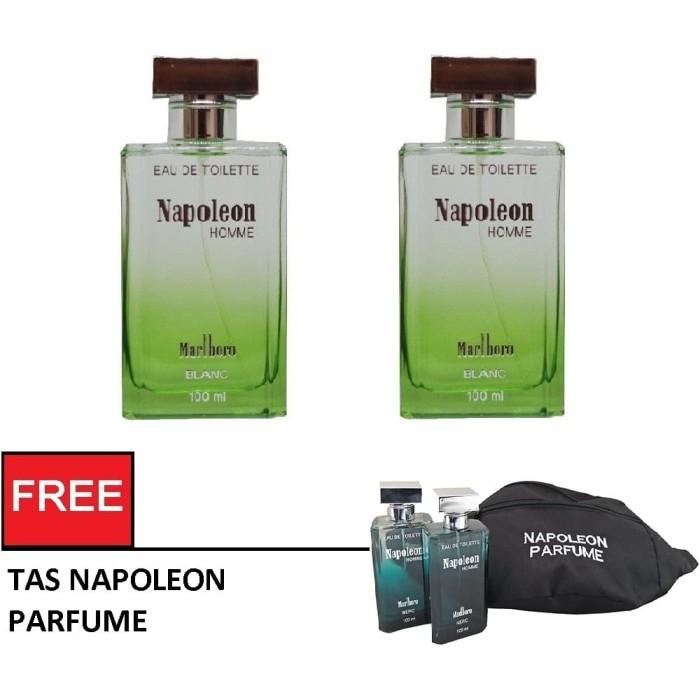Eau de toilette edt napoleon blanc 100 ml (2pcs) - free tas ...