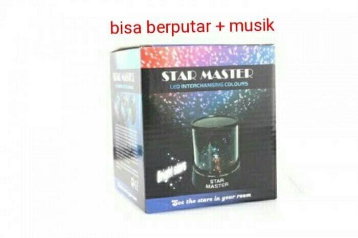 Star Master Lampu Tidur Proyektor Putar Musik Bulan Bintang Love Angel