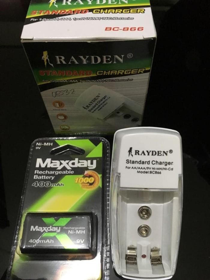 Charger baterai multifungsi aa-aaa-9v + battery cas kotak 9v