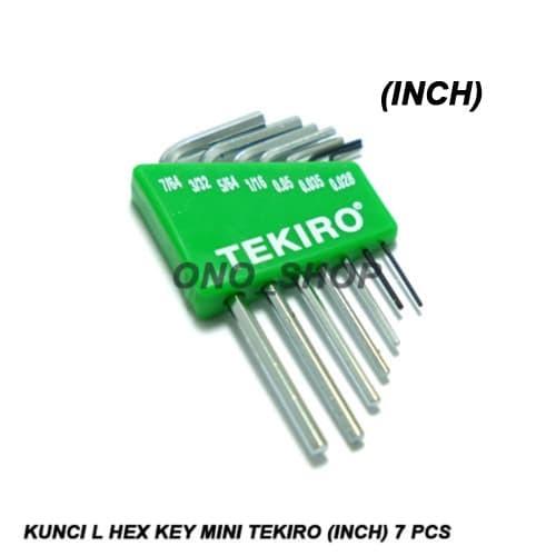 Kunci l hex key mini tekiro (inch) 7 pcs