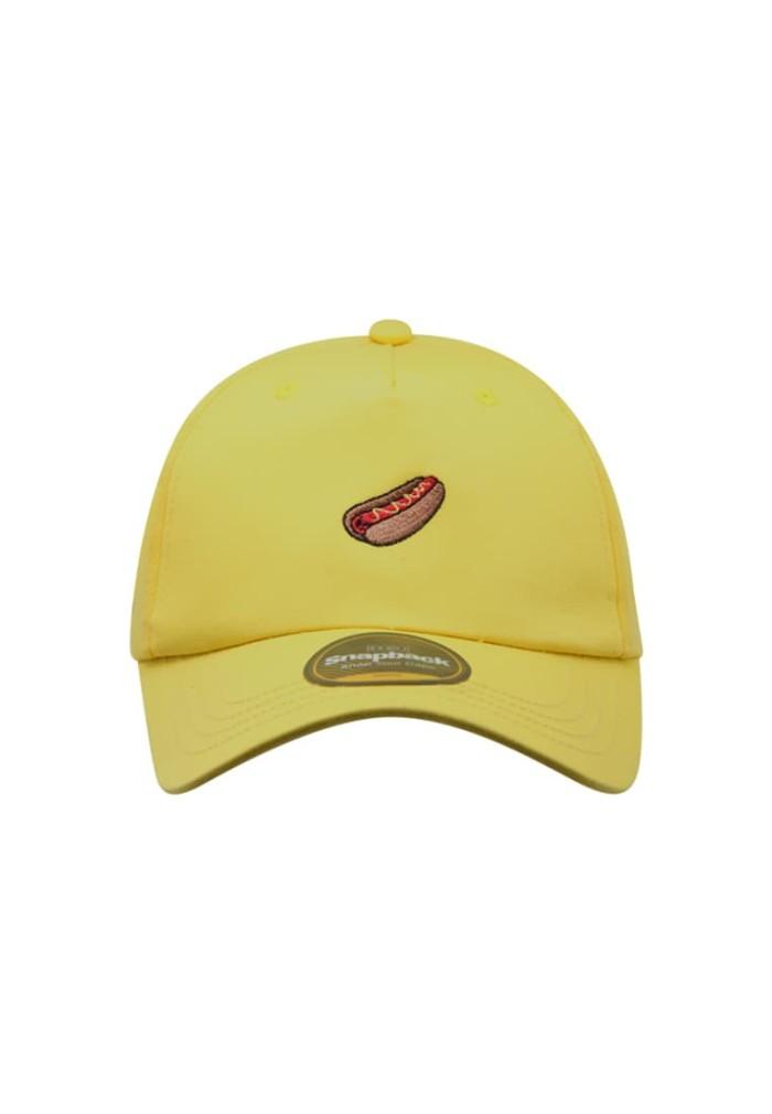 Snapback topi baseball dewasa bordir mini sbr1061ylw_bdr