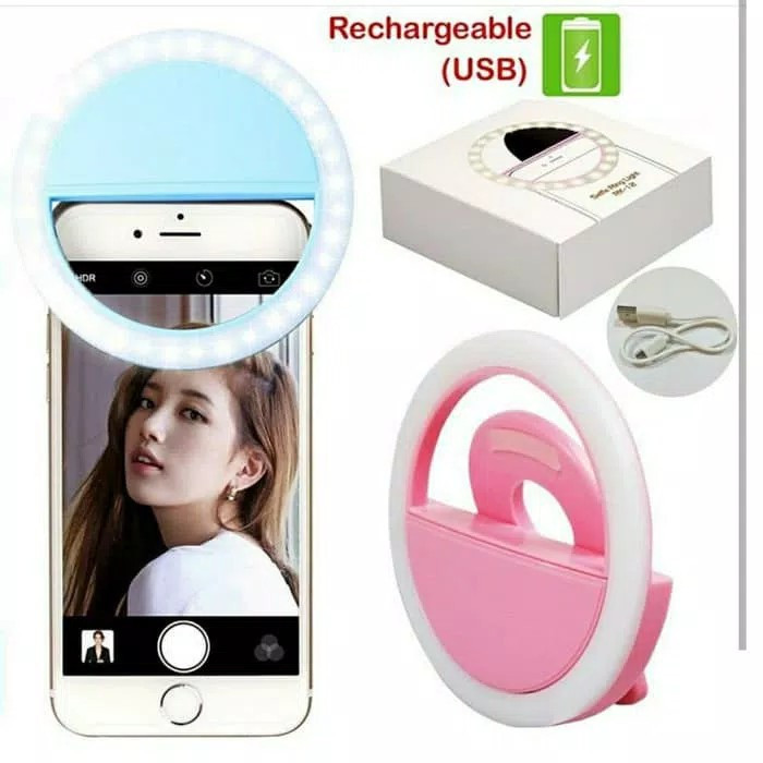 harga Ring light selfie led ( putih ) / lampu selfie bulat Tokopedia.com