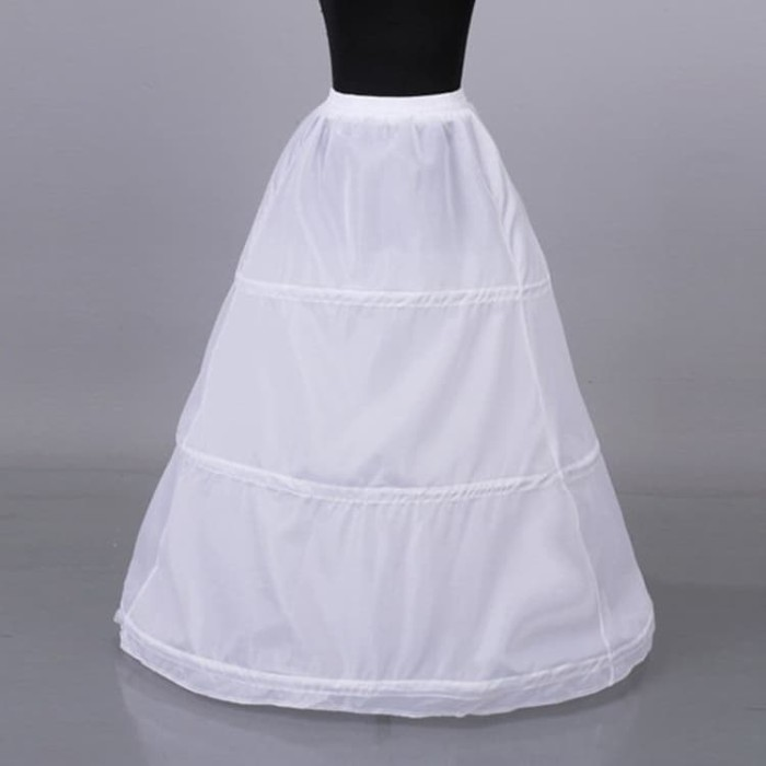 harga Petticoat karet tali rok panjang 3 ring pengembang gaun dress dewasa Tokopedia.com