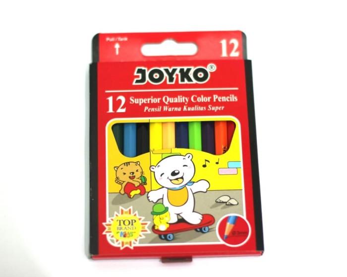 Foto Produk Pensil Warna colour Pencil Joyko Pendek isi 12 dari Sanjaya Stationary