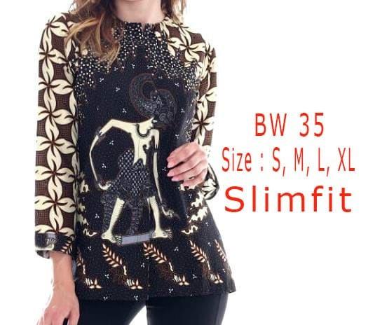 harga Blouse kemeja batik wanita slim fit / fashion batik slimfit bw35 Tokopedia.com