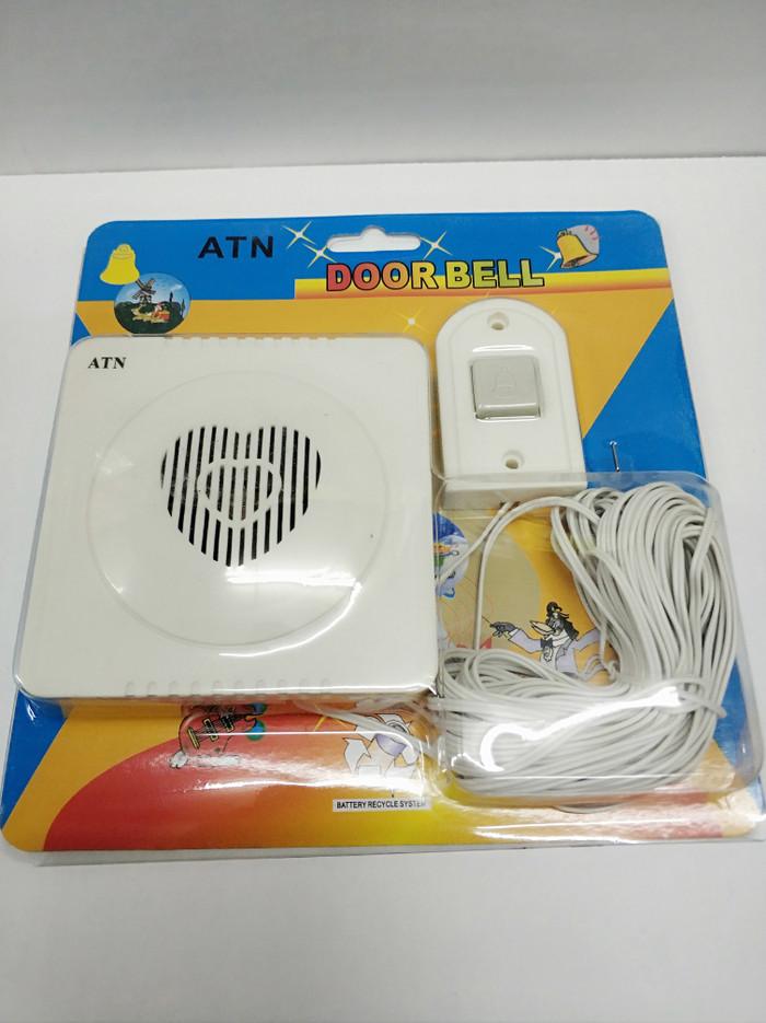 Foto Produk BEL PINTU Rumah / Door Bell ATN / Bell Musik 12 Lagu + Kabel 15M dari RS Listrik