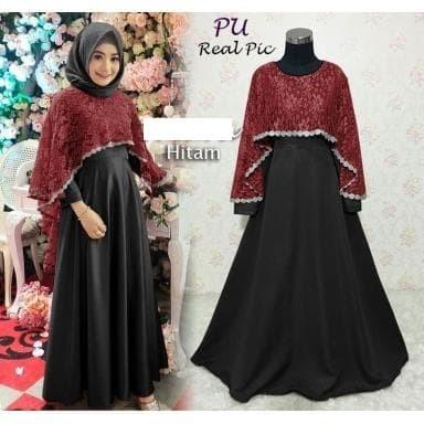 Jual 5249 Gamis Syar I Muslimah Baju Lebaran Baju Pesta Elegant