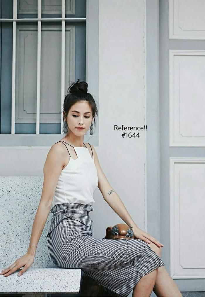 harga Hounstooth skirt ^ rok ^ midi ^ bawahan ^ skirt Tokopedia.com