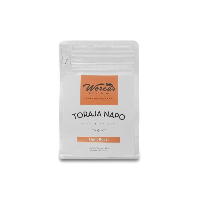 Kopi arabica toraja napo 100 gram light roast (biji/bubuk)