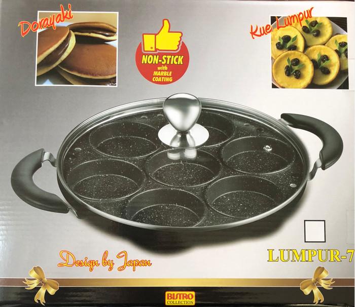 Bistro Cetakan Kue 7 Lubang Kue Lumpur,Dorayaki,Martabak Mini, Telur