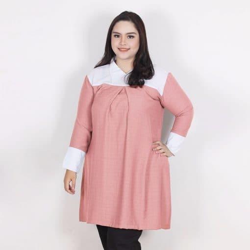 Nyssa combine blouse - abu -abu tua 5xl