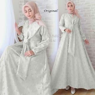 Jual Barang Laris Manis Qm16 Baju Gamis Pesta Muslim Modern Bahan
