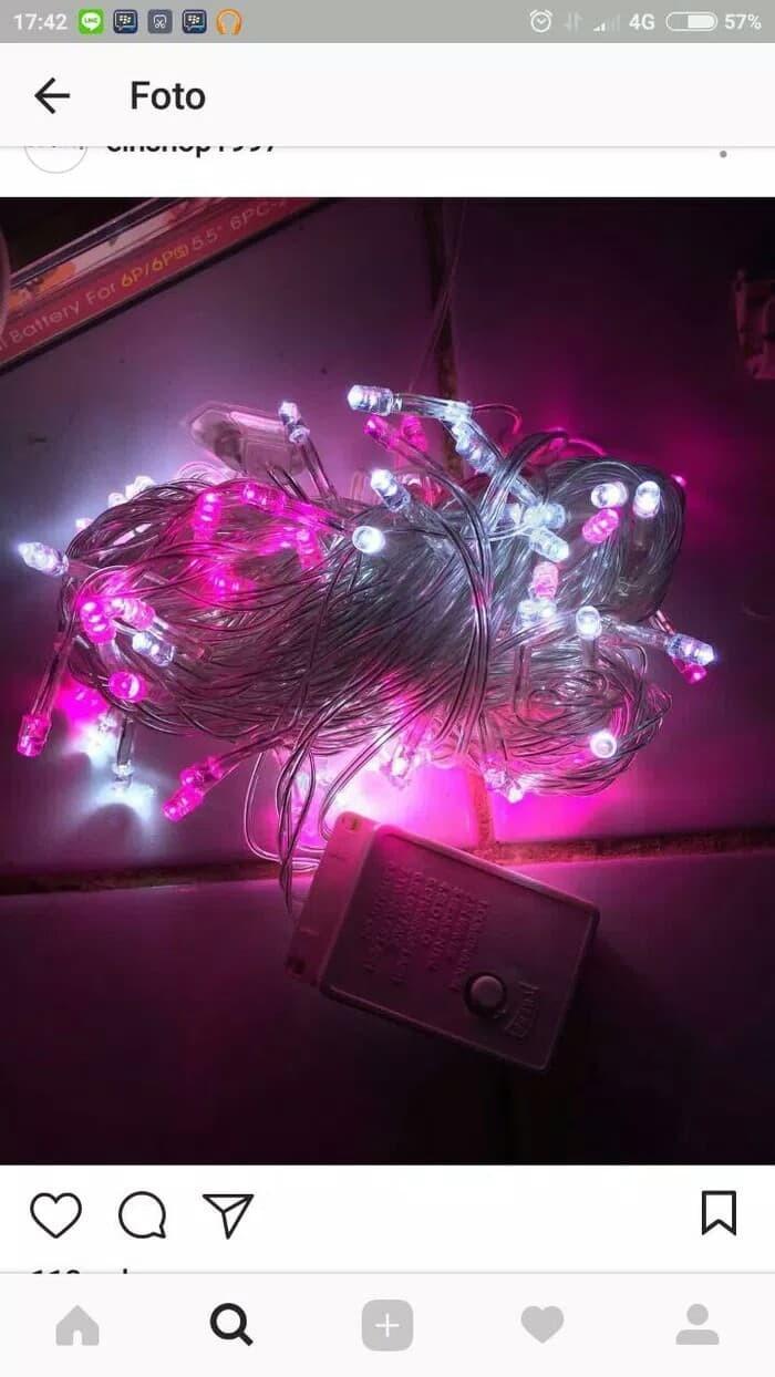 Jual Lampu Tumblr Pink Putih Lampu Natal Lampu Hias Lampu Dekorasi