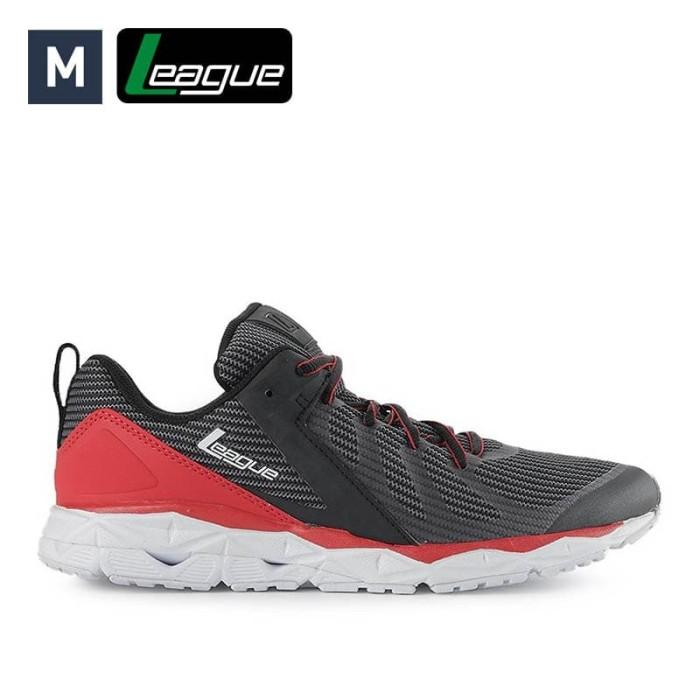 harga Sepatu league pria regulus black red running Tokopedia.com