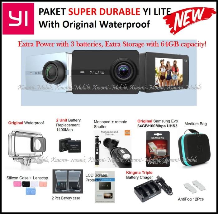 Paket Super Durable Xiaomi Yi Lite Action Camera - VGEN Turbo