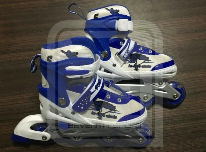 Jual Promo Sepatu Roda  Inline Skate Jahit Bajaj Power Seventh Biru ... 28772c4d17