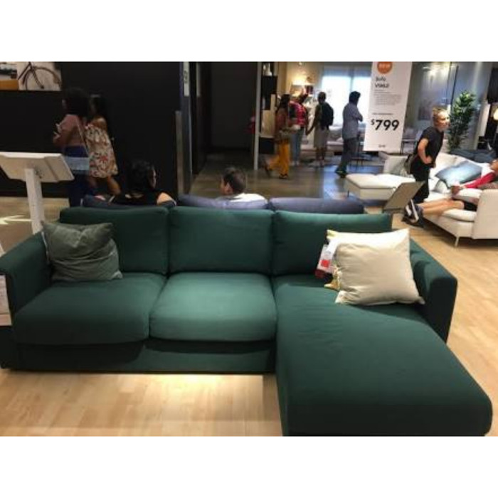 Sofa L Tamu Bed Storage Hijau