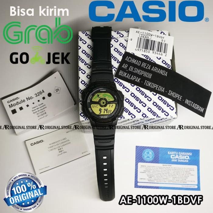 harga Jam pria original casio ae1100w rubber strap ae1100 ae-1100w-1bvdf Tokopedia.com
