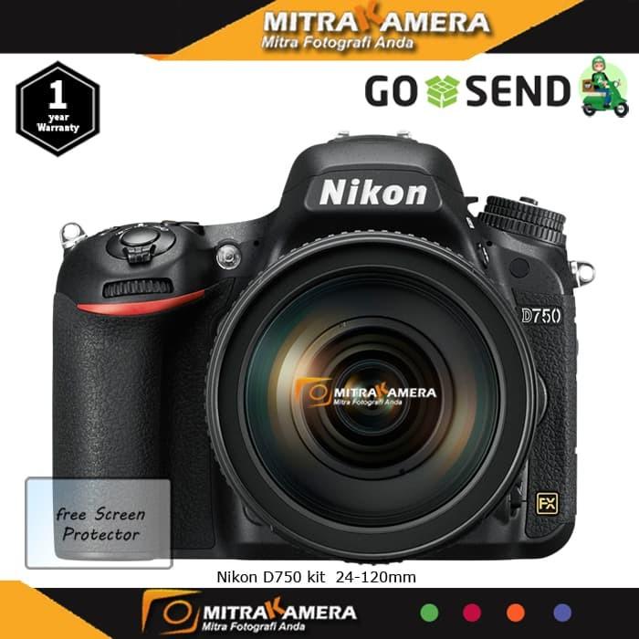 Nikon D750 kit 24-120mm - DSLR - Hitam
