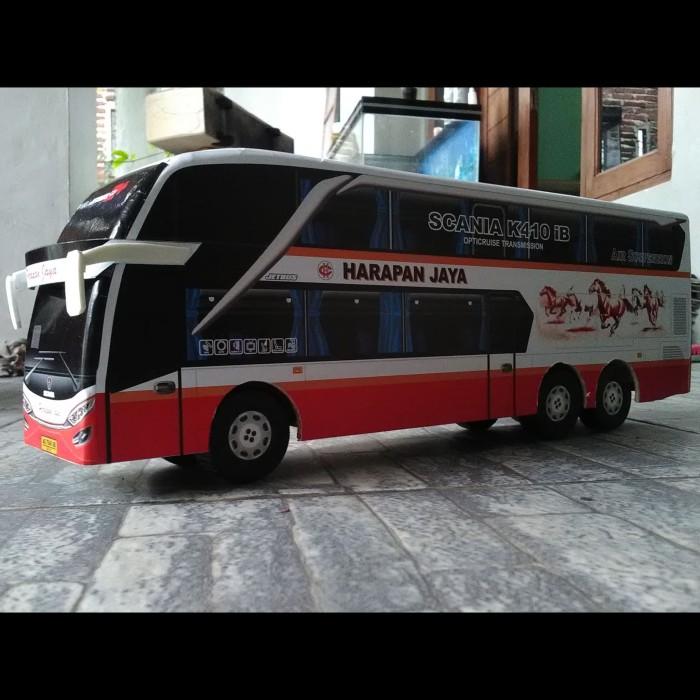 Jual Miniatur Bus Harapan Jaya Double Deck Indobus Collection
