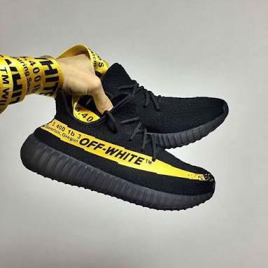 431372d1e Jual Sepatu Adidas Yeezy Boost 350 V2 X Off White Black Yellow ...