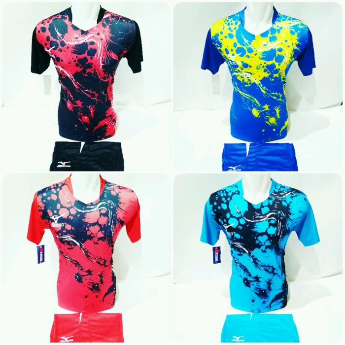 Jual Baju Volly Jersey Olahraga Futsal Kaos Bola Setelan Voli Mizuno ... 6cb59ca585
